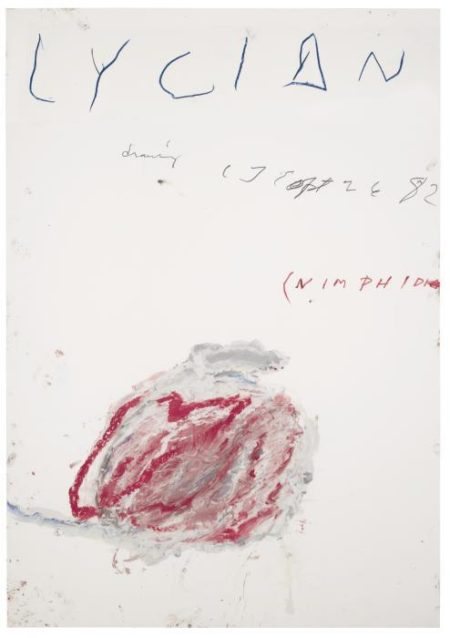 Cy Twombly-Lycian Drawing (Nimphidia)-1982