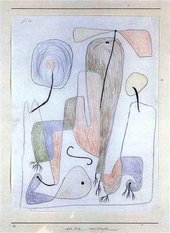Paul Klee-Neue Wurzeln (New Roots)-1932