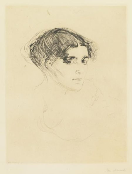 Kvinnehode / Frauenkopf / Portrait of a Woman's Head / Woman's Head-1914