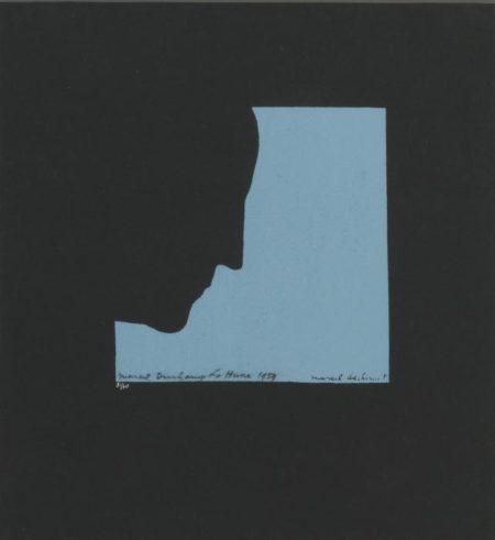Marcel Duchamp-Poster After 'Self-portrait In Profile' (Schwartz 565)-1959