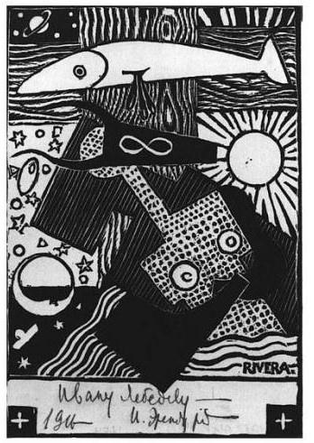 Diego Rivera-Illustraciones para la obra Ilya Ehrenburg-1916