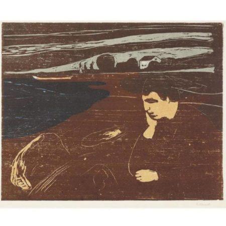 Edvard Munch-Melancholy III (Woll 203)-1902