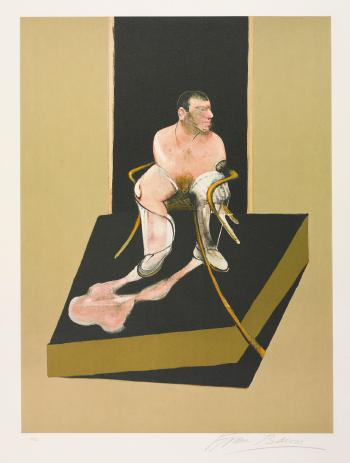 Francis Bacon-Triptych 1986-1987: Study For a Portrait of John Edwards-1986