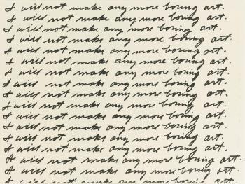 John Baldessari-I will not Make any more Boring Art (Coplan Hurowitz 1)-1971