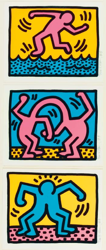 Keith Haring-Keith Haring - Pop Shop II: Three Plates-1988