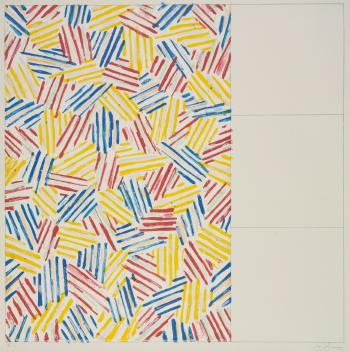 Jasper Johns-#1 (After Untitled 1975) (Ulae 174), (1975 #1, After Intitled (1976))-1976