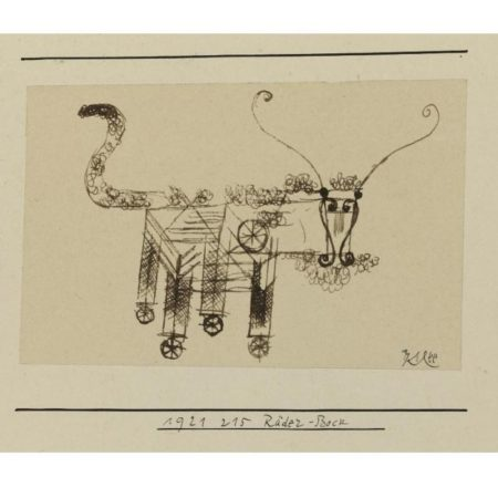 Paul Klee-Rader-Bock (Billy-Goat On Wheels)-1921