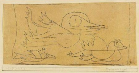 Paul Klee-Reisende Vogel-1917