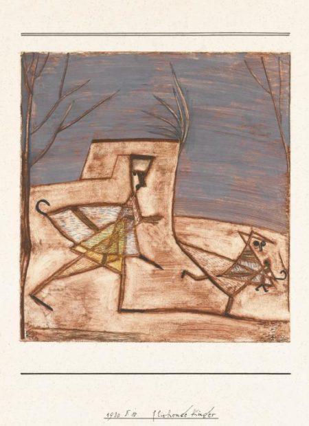 Paul Klee-Fliehende Kinder (Children Fleeing)-1930