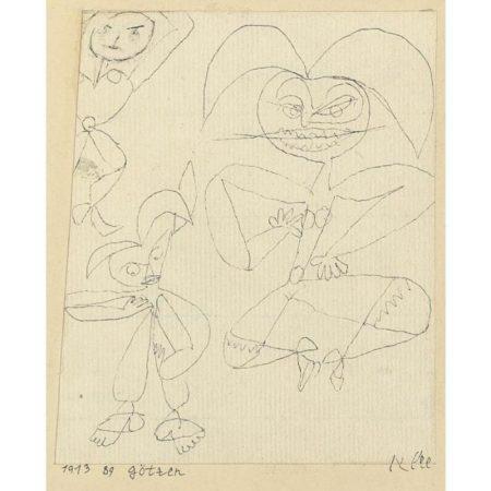 Paul Klee-Gotzen (Idols)-1913