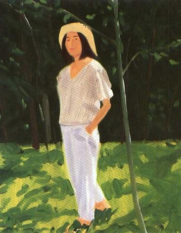 Alex Katz-Ada in the Woods-1984