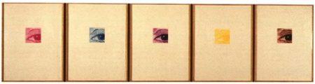 Chuck Close-Linda, Eye series I-V-1977