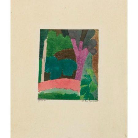 Paul Klee-Kl.Parklandschaft (Small Park Landscape)-1914