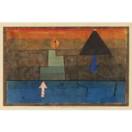 Paul Klee-Gegensatze Abends (Blau Und Orange) Contrasts In The Evening (Blue And Orange)-1925