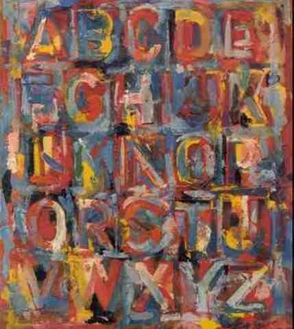 Jasper Johns-Colored Alphabet-1959