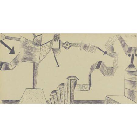 Paul Klee-Utopische Bretterkonstruktion-1922