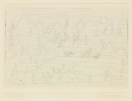 Paul Klee-Landschaft Mit D. Wolf (Landscape With The Wolf)-1929