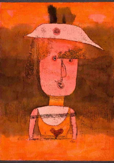 Paul Klee-Frau R. Auf Reisen Im Suden-1924