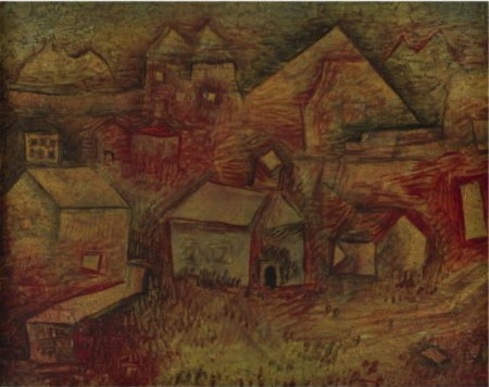 Paul Klee-Siedelung Am Steinbruch (Settlement By The Quarry)-1926