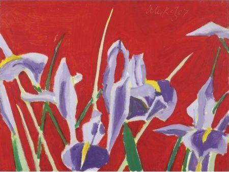 Alex Katz-Blue Flags-1967