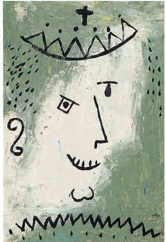 Paul Klee-Kronen-Narr (Crowned Fool)-1938