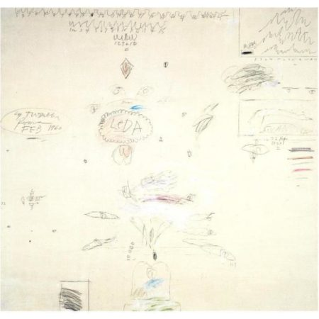 Cy Twombly-Leda and the Swan-1960