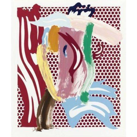 Roy Lichtenstein-Brushstroke Head-1986