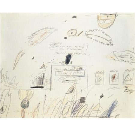 Cy Twombly-Study for the School of Athens-1960