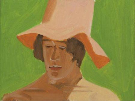 Alex Katz-Boy with Orange Hat No. V-1974