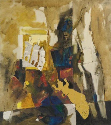 Maqbool Fida Husain-Untitled (The Three Muses, Maya Series)-
