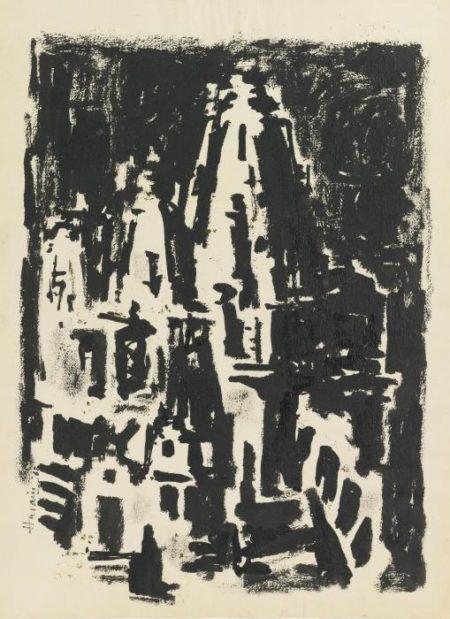 Maqbool Fida Husain-Untitled (Benares)-1962