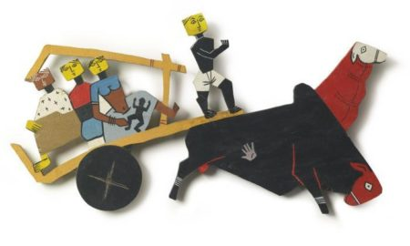 Maqbool Fida Husain-Bullock Cart-