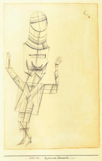 Paul Klee-Figurine Eines Schwankenden-1927