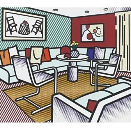 Roy Lichtenstein-Collage for Interior with red Wall-1991