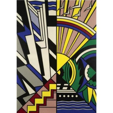 Roy Lichtenstein-Study for New York State Mural, Town and Country-1968