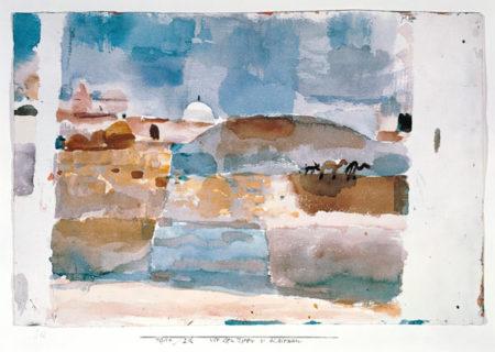 Paul Klee-Kairuan, Vor Den Thoren (Nach Einer Skizze Von 1914)-1921