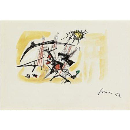 Lucio Fontana-Disegno: Progetto Per Architettura-1957