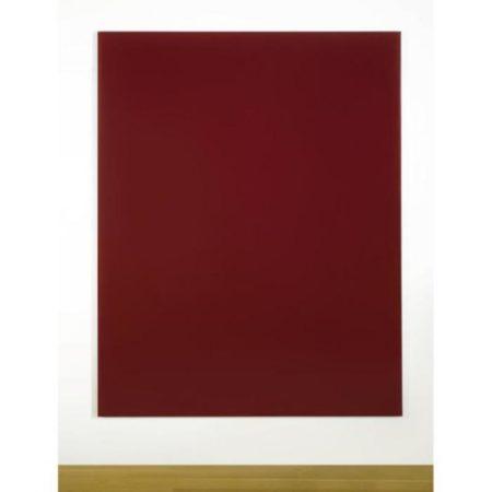 Gerhard Richter-Spiegel, Blutrot (Mirror, Blood Red)-1991