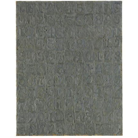 Jasper Johns-Gray Numbers-1957