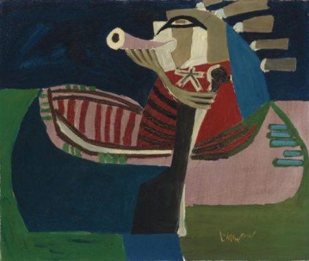 Roy Lichtenstein-Indian Calling Moose-1952