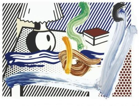 Roy Lichtenstein-Brushstroke Still Life With Lamp-1997