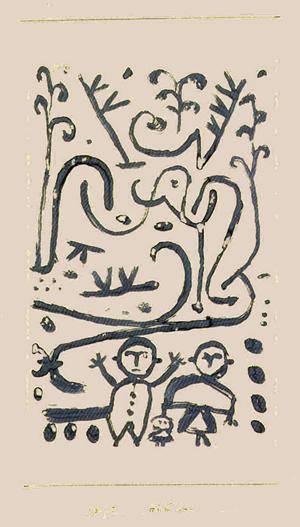 Paul Klee-Hande hoch (Hands Up)-1938