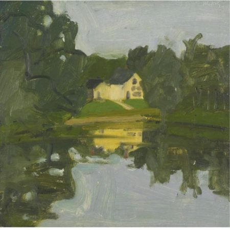 Alex Katz-Landscape with yellow House-