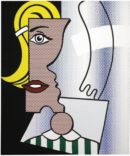 Roy Lichtenstein-Puzzled Portrait-1978