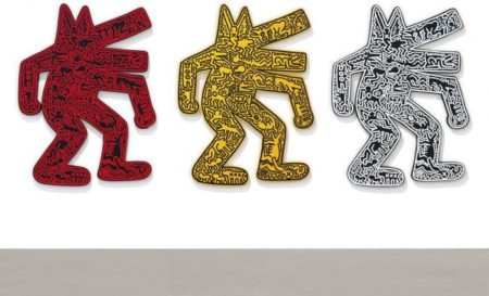 Keith Haring-Keith Haring - Dog (Three Works)-1986