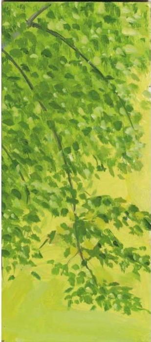 Alex Katz-Hanging Branch 2-1990