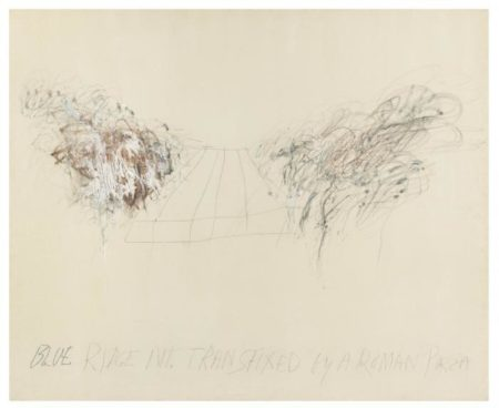 Cy Twombly-Blue Ridge Mountains Transfixed by a Roman Piazza-1962
