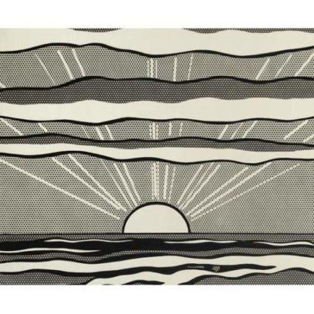 Roy Lichtenstein-Black and White Sunrise-1964