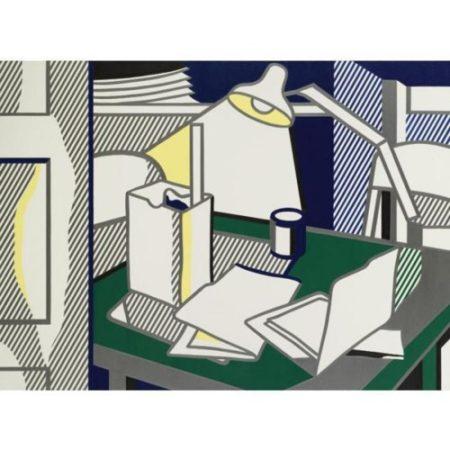 Roy Lichtenstein-Still Life with Lamp-1976