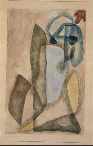 Paul Klee-Blume In Maerz-1913